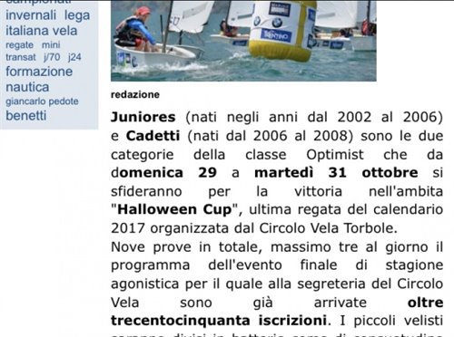HALLOWEEN CUP OPTIMIST