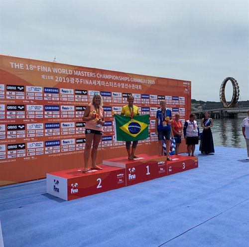 Tanja Engels - Second place at  Fina World Master Championship